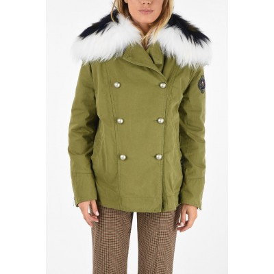 double breasted jacket with real fur insert Ermanno Scervino Damen IMSH4MA2