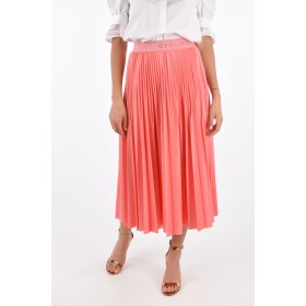 Accordion Skirt with Elastic Waist Band Givenchy Damen Knielang Sommer AK7FOC2F