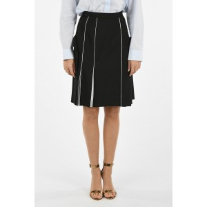 Stretch Wool Unstructured A-Line Skirt Burberry Damen Sommer DGICYVF8
