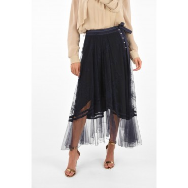 Tulle maxi skirt with lace Chloe Damen Sommer Casual I0MUZM7A